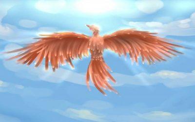 De vogel Phoenix in de Starnmeer